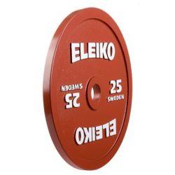 ELEIKO VARŽYBINIS JĖGOS TRIKOVĖS DISKAS 25 kg