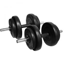 DUMBELL SET WITH CEMENT WEIGHT PLATES INSPORTLINE 2x10 kg