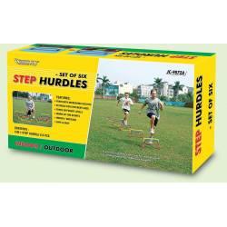 3 LEVELS STEP HURDLES SET - OUTDOOR PLAY 6 PCS