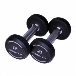 MIGHTY RUBBERED DUMBELLS 2x2kg