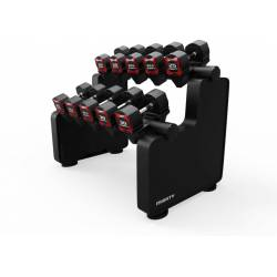 MIGHTY DUMBBELL RACK 5 PAIR 2 TIER