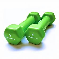 MIGHTY AEROBICS DUMBELLS 2 x 1 kg