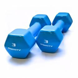 MIGHTY AEROBICS DUMBELLS 2 x 3 kg
