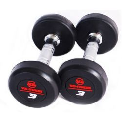 VS-FITNESS RUBBERED DUMBELLS 2x3kg