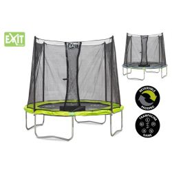 TRAMPOLINE WITH SAFETY NET EXIT TWIST 244 cm
