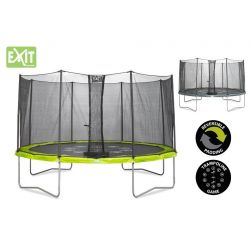 TRAMPOLINE WITH SAFETY NET EXIT TWIST 427 cm