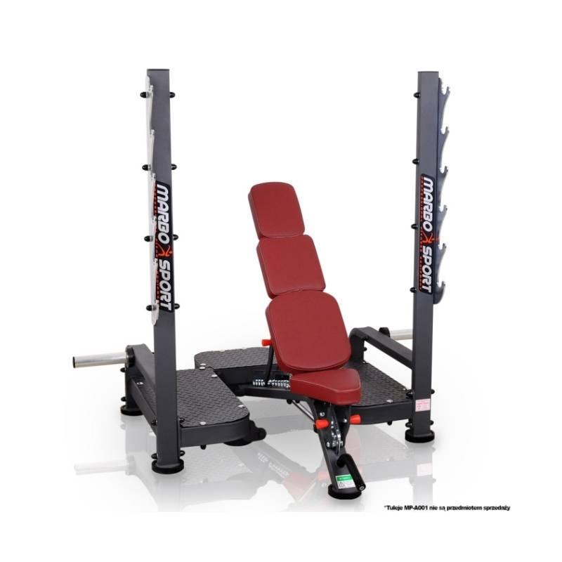 PROFESSIONAL WEIGHT BENCH WITH BARBELL STAND MARBO MP-L213 ...