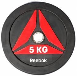 GUMUOTAS TRENIRUOČIŲ DISKAS TINKAMAS MĖTYMUI REEBOK 5 kg