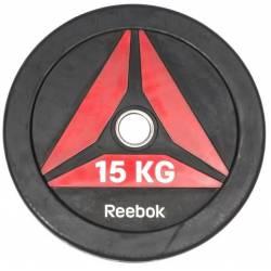 GUMUOTAS TRENIRUOČIŲ DISKAS TINKAMAS MĖTYMUI REEBOK 15 kg