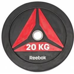 GUMUOTAS TRENIRUOČIŲ DISKAS TINKAMAS MĖTYMUI REEBOK 20 kg
