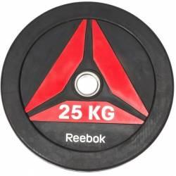 GUMUOTAS TRENIRUOČIŲ DISKAS TINKAMAS MĖTYMUI REEBOK 25 kg