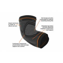 SHOCK DOCTOR COMPRESSION KNIT ELBOW SLEEVE WITH GEL SUPPORT
