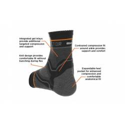 SHOCK DOCTOR COMPRESSION KNIT ANKLE SLEEVE WITH GEL SUPPORT