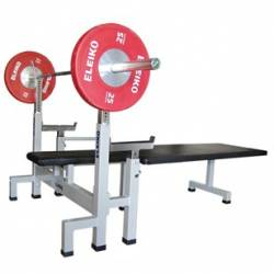 PROFESSIONAL PL WEIGHT BENCH WITH BARBELL STAND ELEIKO
