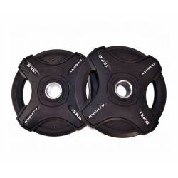 MIGHTY RUBBER OLYMPIC DISCS 2 x 15 kg
