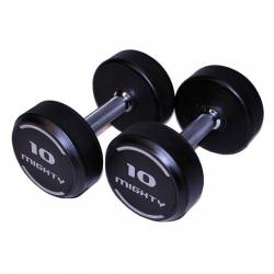 MIGHTY RUBBERED DUMBELLS 2x55kg