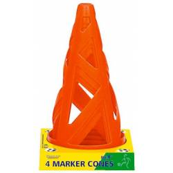 OUTDOOR PLAY MARKER CONES 4 PCS 23 cm