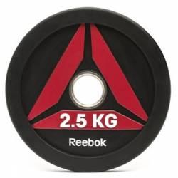 GUMUOTAS TRENIRUOČIŲ DISKAS TINKAMAS MĖTYMUI REEBOK 2.5 kg