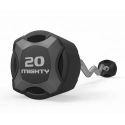 MIGHTY URETHANE FIXED WEIGHT BARBELL WITH CURL BAR 10-45 KG