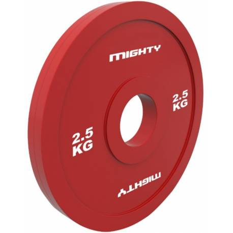 MIGHTY RUBBER OLYMPIC FRACTIONAL PLATES 2 x 2.5 kg