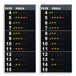 FAVERO FS-412A STATISTICS SIDE PANELS FOR SCOREBOARDS