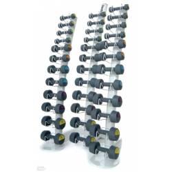 REEBOK VERTICAL DUMBBELL RACK 14 PAIR 1-20 kg