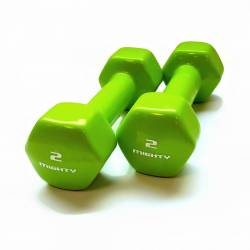 MIGHTY AEROBICS DUMBELLS 2 x 2 kg