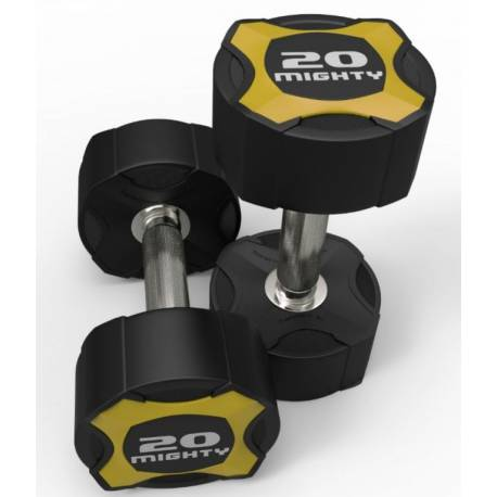 MIGHTY URETHANE DUMBELL SET 2x1-10 kg